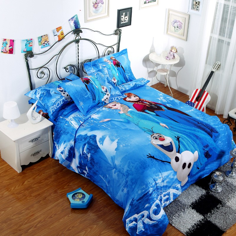 Frozen Nordic Florals Full Comforter Set with Fitted Sheet
